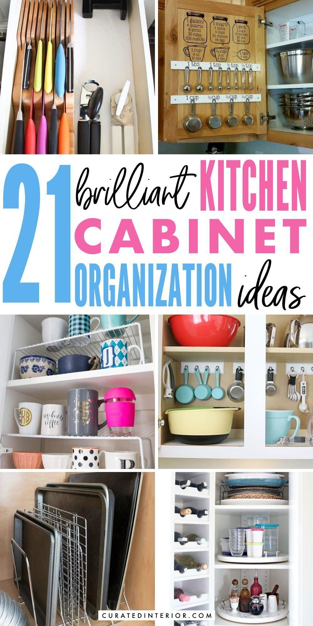 21 Brilliant Kitchen Cabinet Organization Ideas