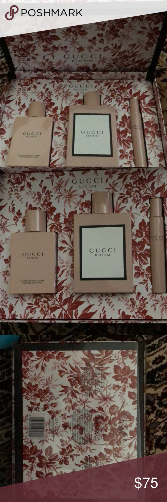Gucci Bloom Boxed Set Parfum Lotion Fragrance Pen Fragrance Lotion Bloom