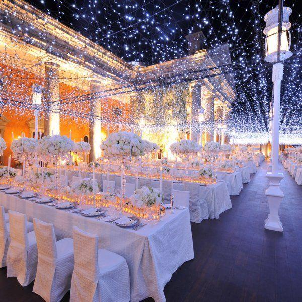 Inspiration pour un mariage en hiver - la décoration