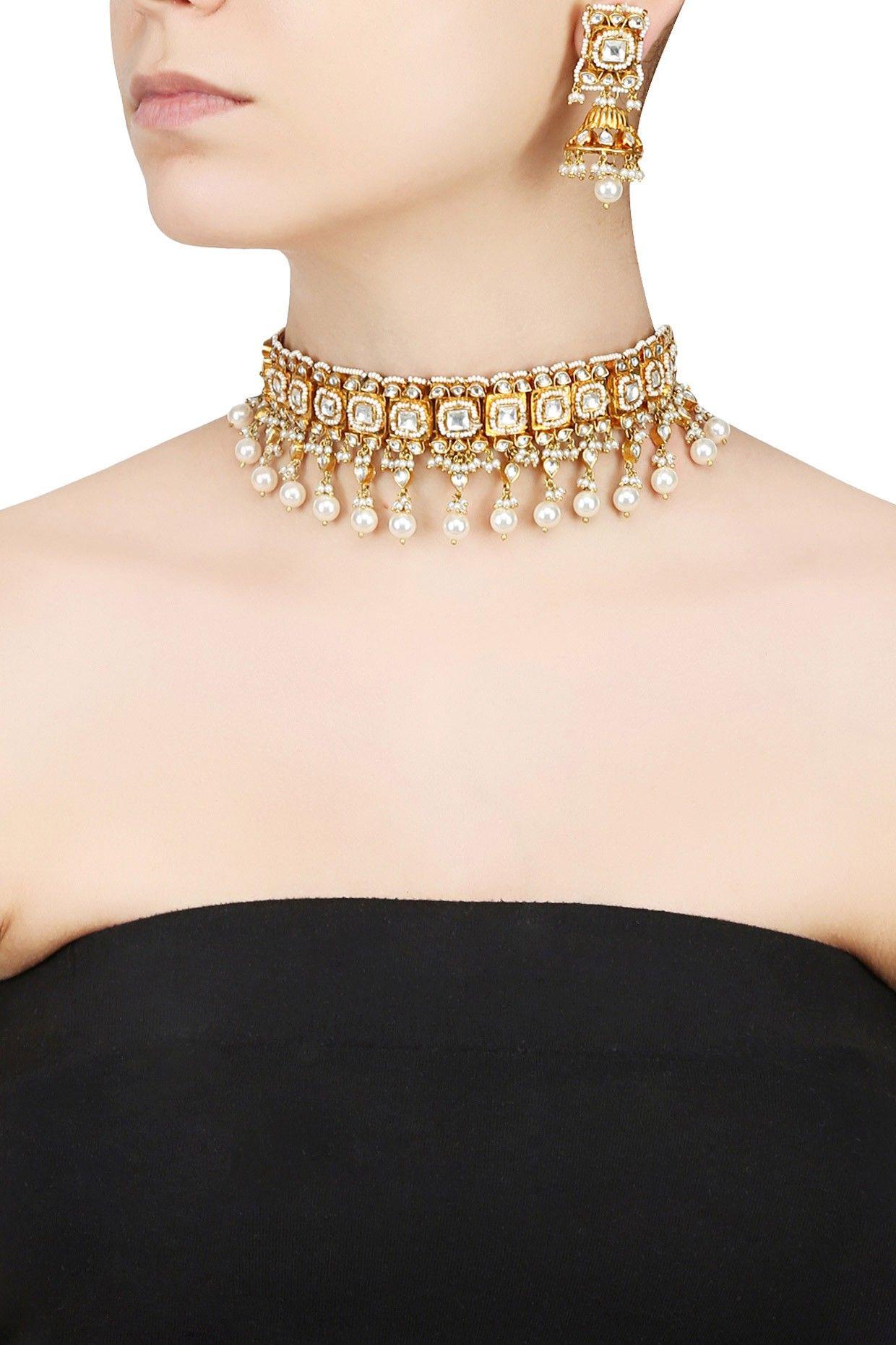 f96cf2fd1fd4f Tiroshe in 2019 | Jewelry patterns | Pearl choker necklace, Pearl ...