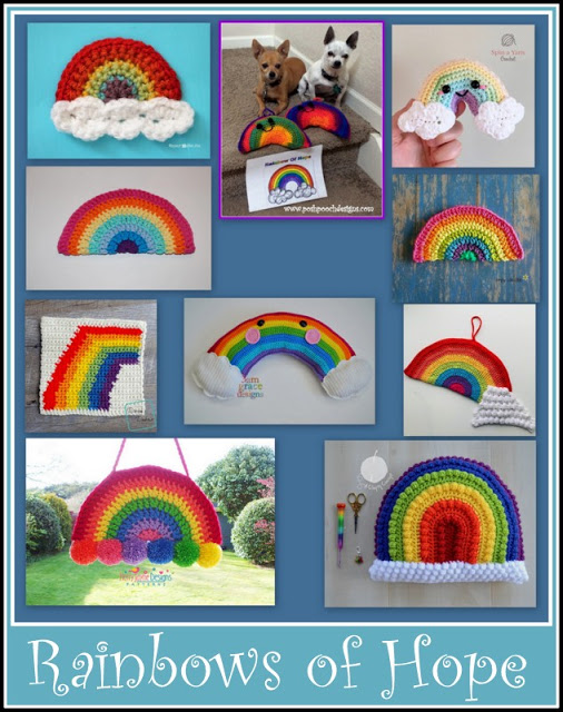 Rainbows Of Hope Free Crochet Pattern Collection Free Crochet