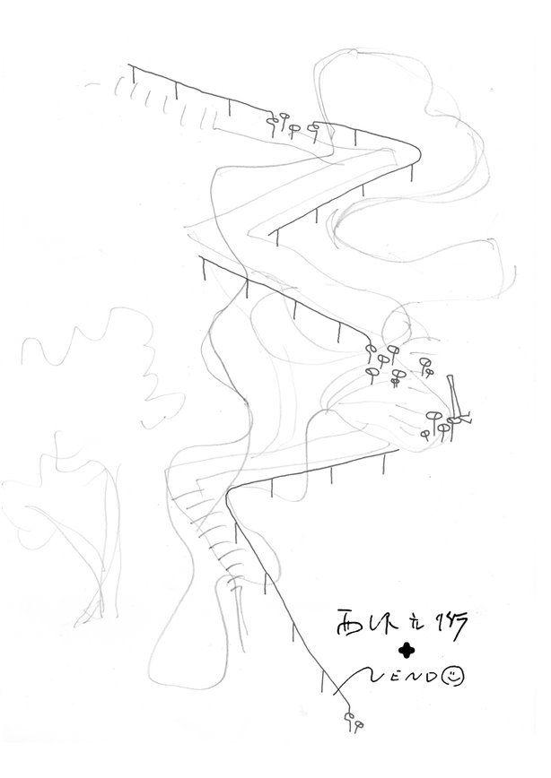META MAGAZINE | archicake daily - Nendo+西澤立衛 飛瀑直下的屋頂與蘑菇