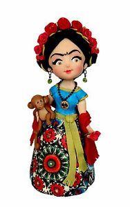 Muneca Doll Frida Khalo Ooak Porcelana Fria Cold Porcelain Cold Porcelain Art Dolls Handmade Frida Khalo