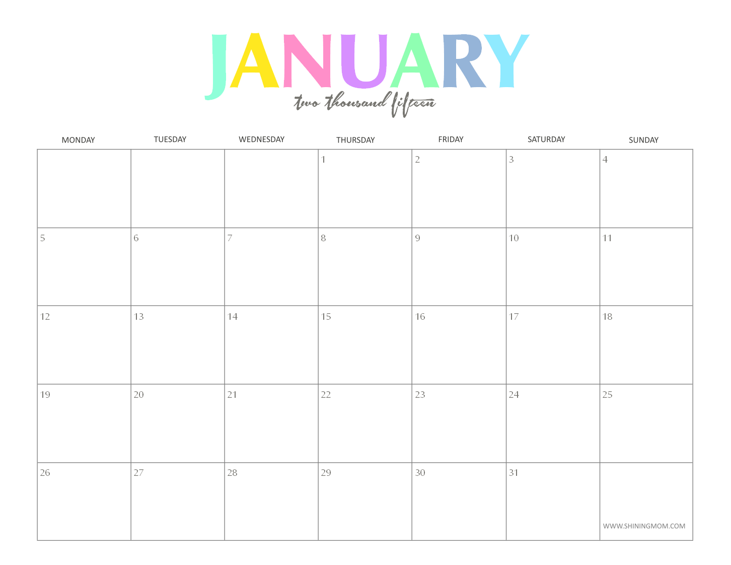 microsoft office calendar 2015