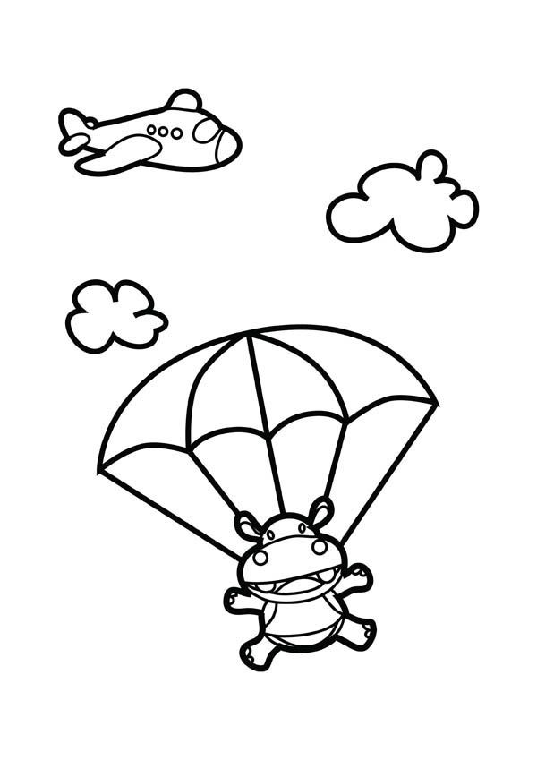 Cartoon Animals Skydiving Google Search Coloring Pages