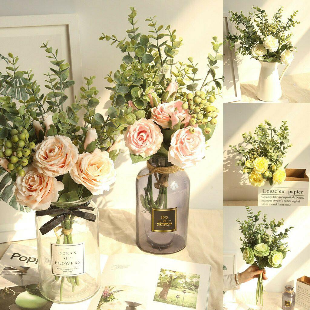 Details About Ins Diy Range Rose Hydrangea Flower Bouquet Bunch Home Wedding Party Gift Decor Wedding Party Flowers Flower Bouquet Wedding