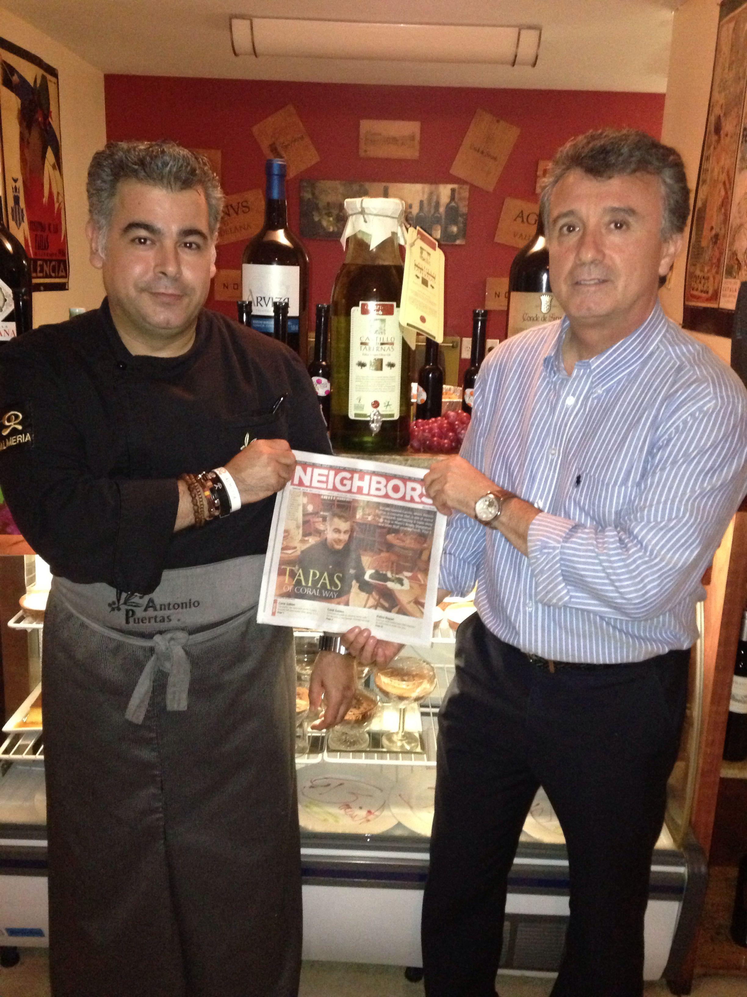 Con Rafael Ubeda dueño del Aceite Castillo de Tabernas, unos de los mejores aceites del mundo