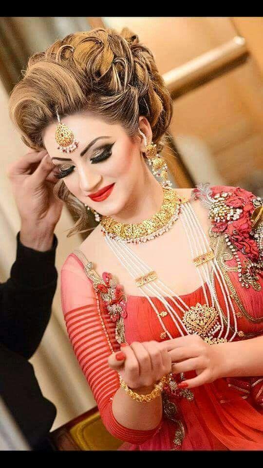 Pin By Aimanjan On Dpzzzzz Pakistani Bridal Makeup Vintage Wedding Hair Indian Wedding Makeup