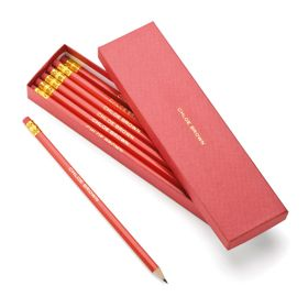 pencils with your name inscribed in gold