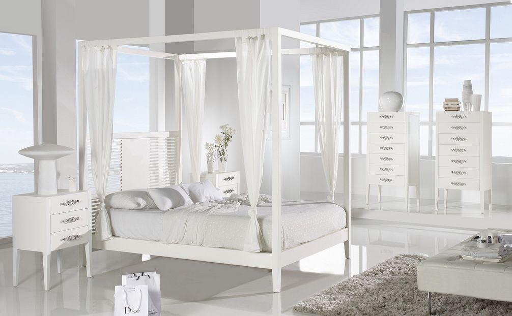 Cama con dosel de madera dormitorio Bilbao | Interiorismo ...