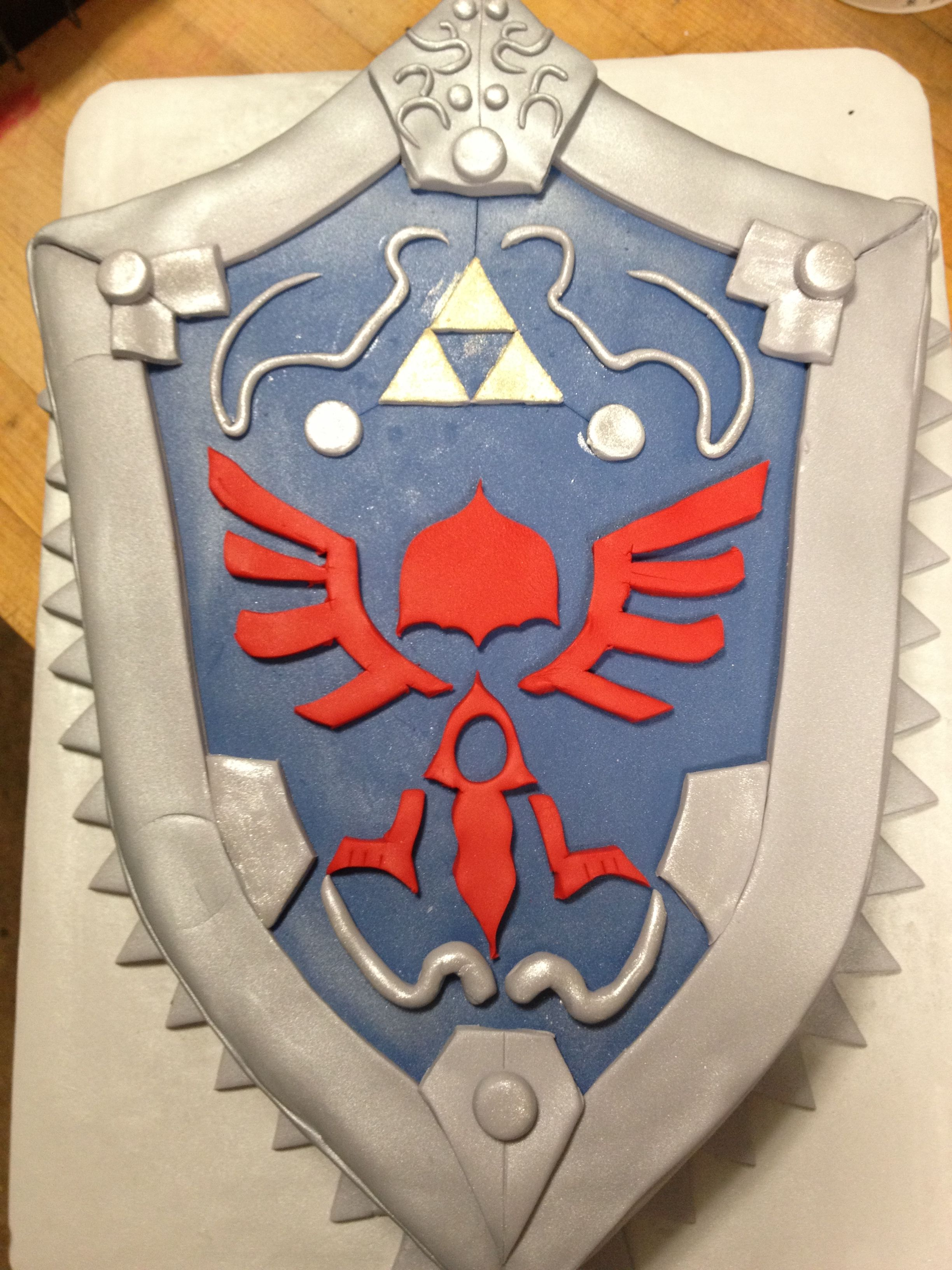 Twilight Princess Shield Zelda Cake Strawberry