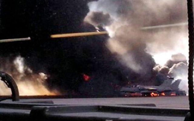 Disastro aereo in Spagna: caccia F16 precipita su base Nato #cacciaf16 #basenatospagna