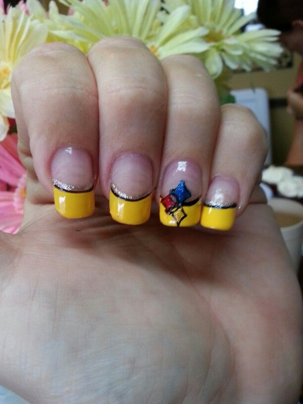 Steelers nail art | My Style | Pinterest | Football nails, Sports ...