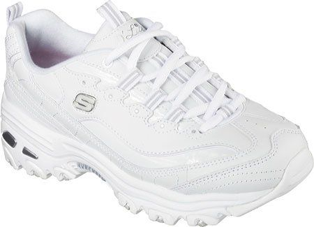 all white skechers