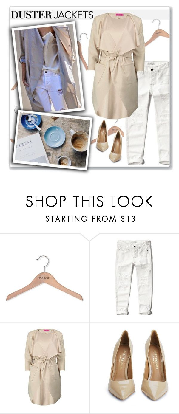 """""""Duster Jackets"""" by ambervogue ❤ liked on Polyvore featuring PERIGOT, Abercrombie & Fitch, Boohoo, Kurt Geiger and dusterjackets"""
