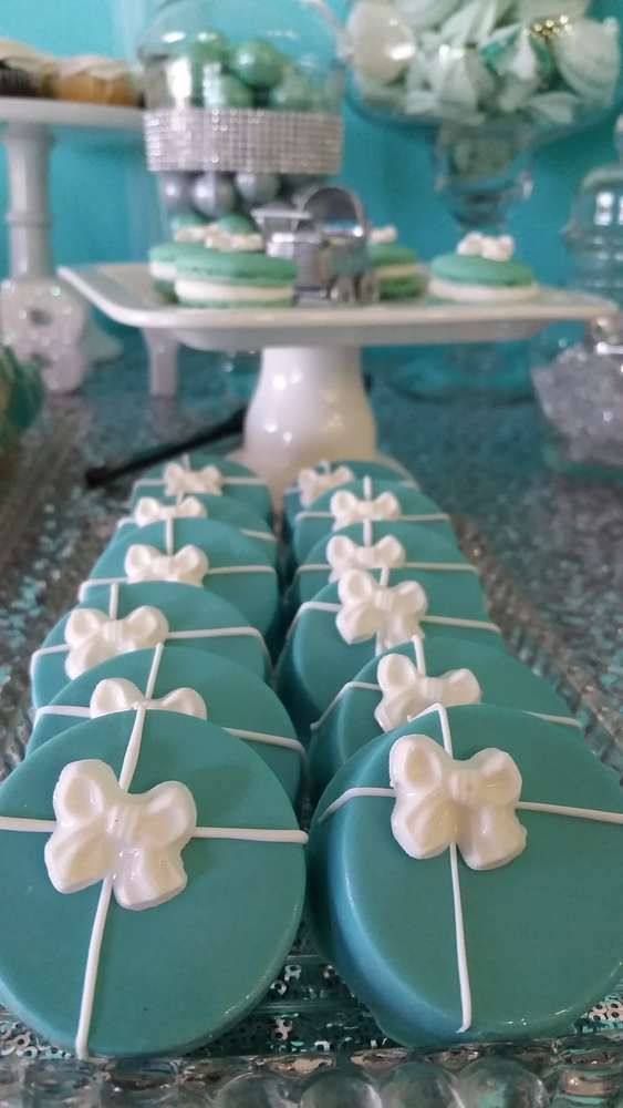 Cookies At A Tiffany U0026 Co. Baby Shower Party! See More Party Planning Ideas