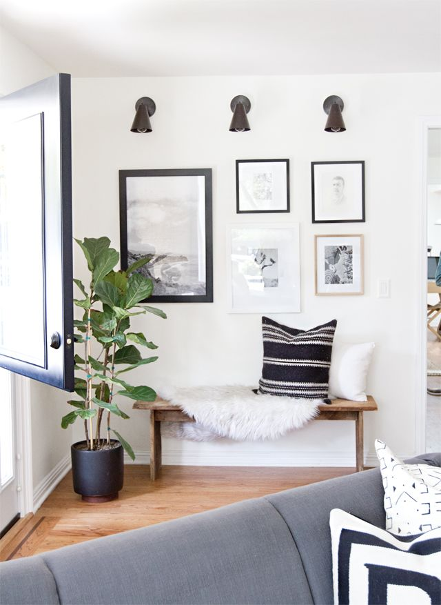 modern rustic living room makeover before