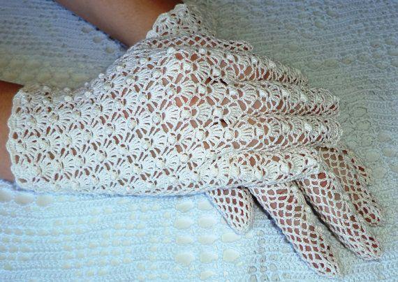 Vintage Style Crochet Lace Popcorn Stitch by WillowFairyJewelry ...