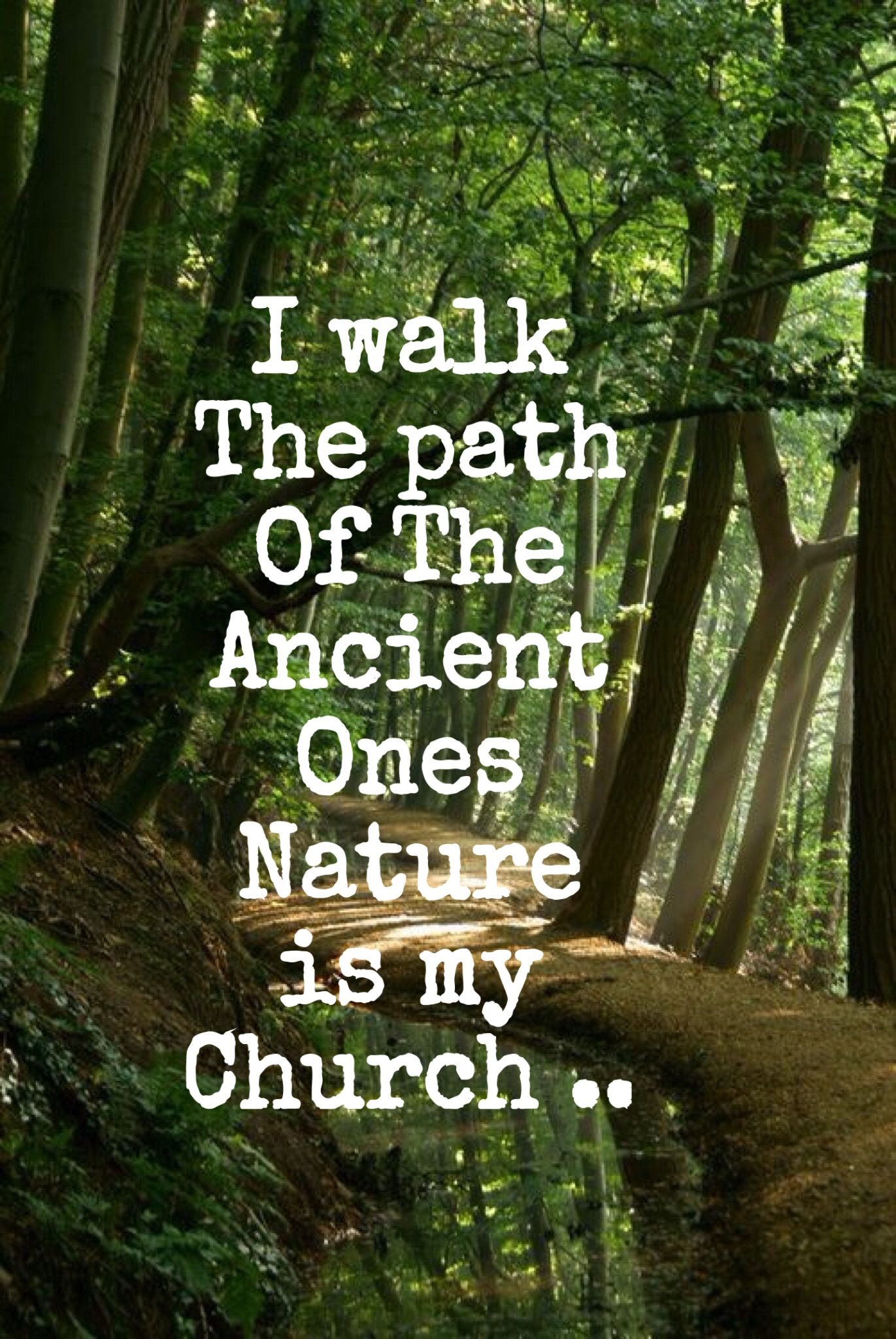 I walk the path of The Ancient Ones, Nature is my church... WILD WOMAN SISTERHOOD™  #nature #quotes #beautiful