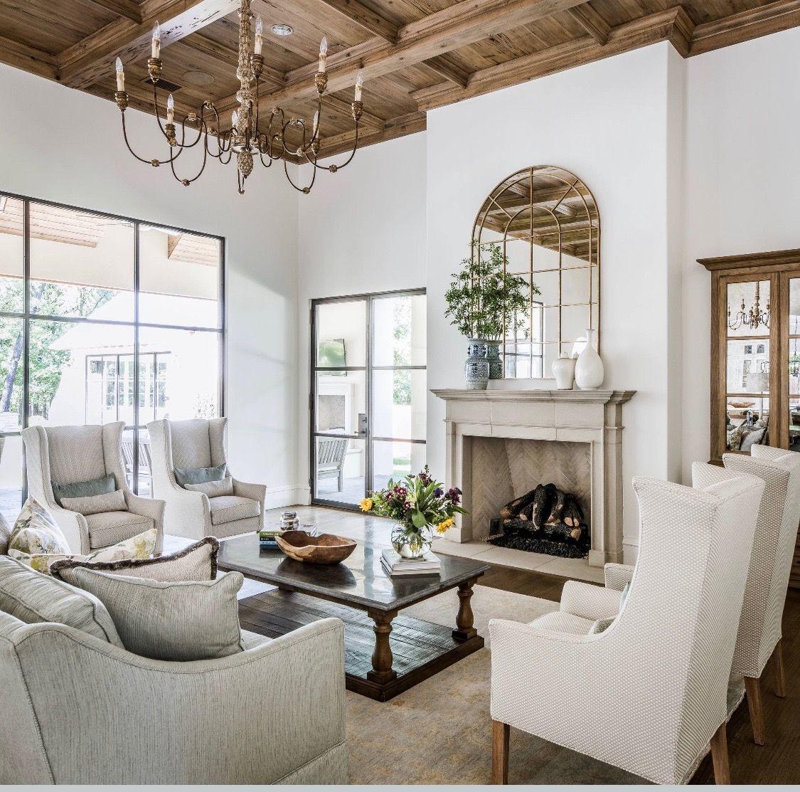 Mediterranean Style Living Room Decor, Modern Cottage