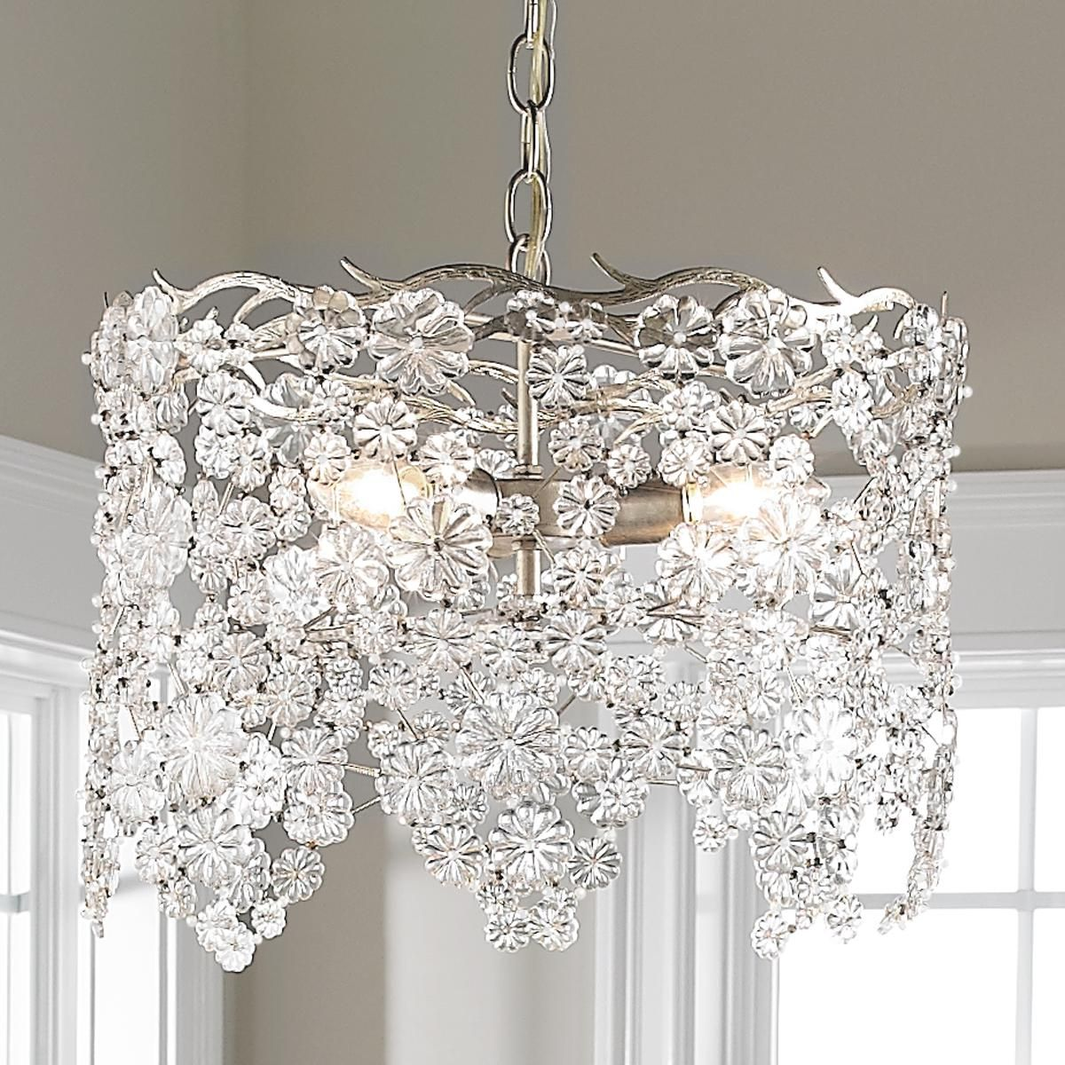 Glass Lace Drum Chandelier