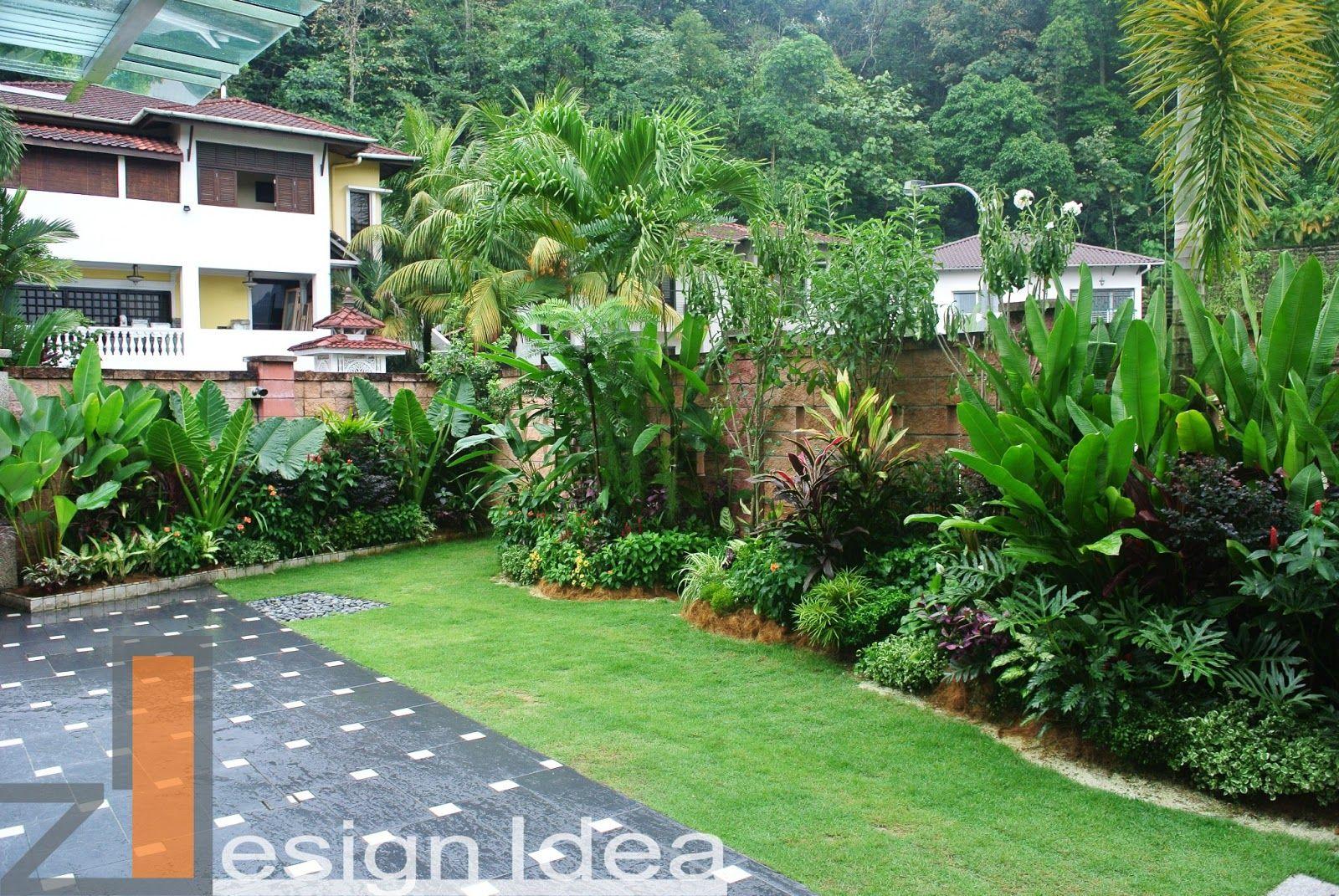 Lush Tropical Garden Beds Tropical Garden Tropical Garden Design Tropical Landscaping