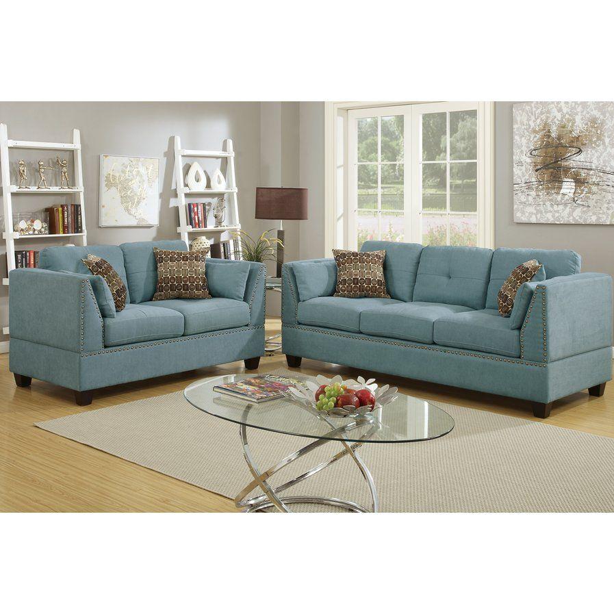 Best Bobkona Zenda 2 Piece Living Room Set For The Home 400 x 300