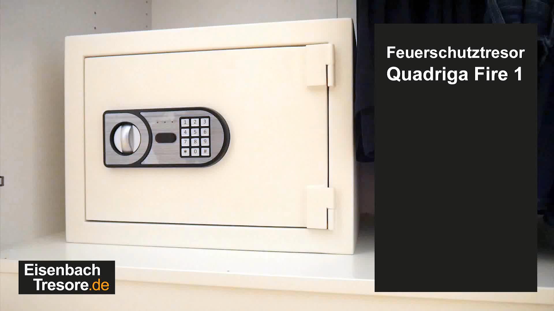 Feuerschutz Tresor Quadriga Fire 1 Video Video In 2020 Tresor Brandschutz Feuer