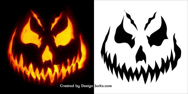 Free-Scary-Halloween-Pumpkin-Carving-Patterns-Stencils-\-Ideas - pumpkin carving template