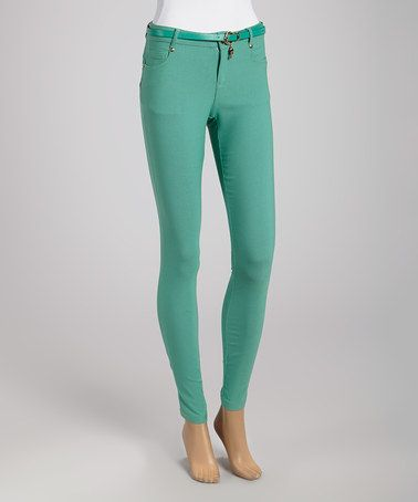 Look what I found on #zulily! Mint Skinny Pants by Farinelli #zulilyfinds