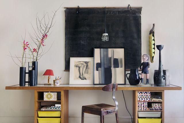 ATELIER RUE VERTE , le blog: Paris / L'appartement éclectique d'un couple d'antiquaires /