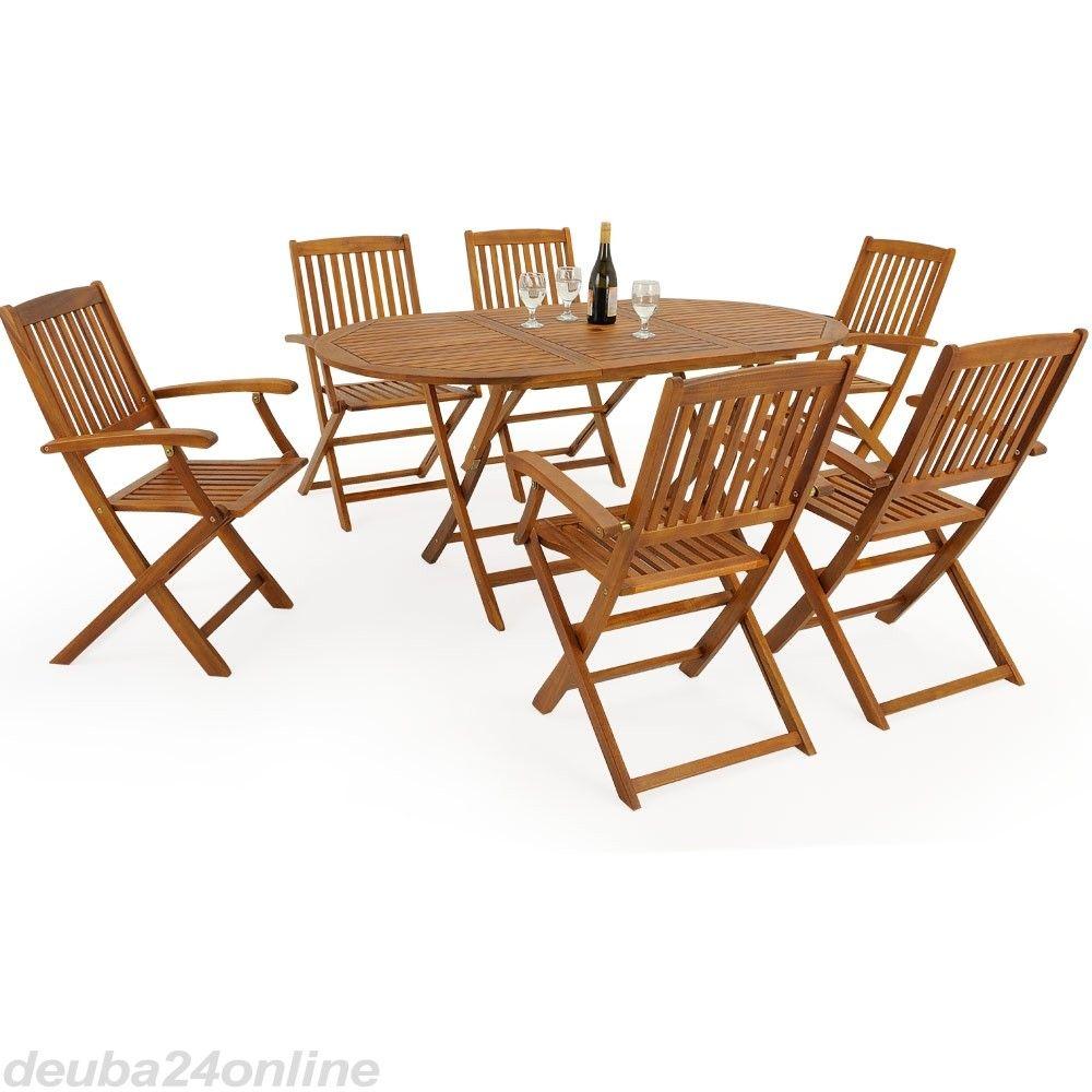 Sitzgruppe Boston Aus Akazienholz 6 1 Garden Furniture