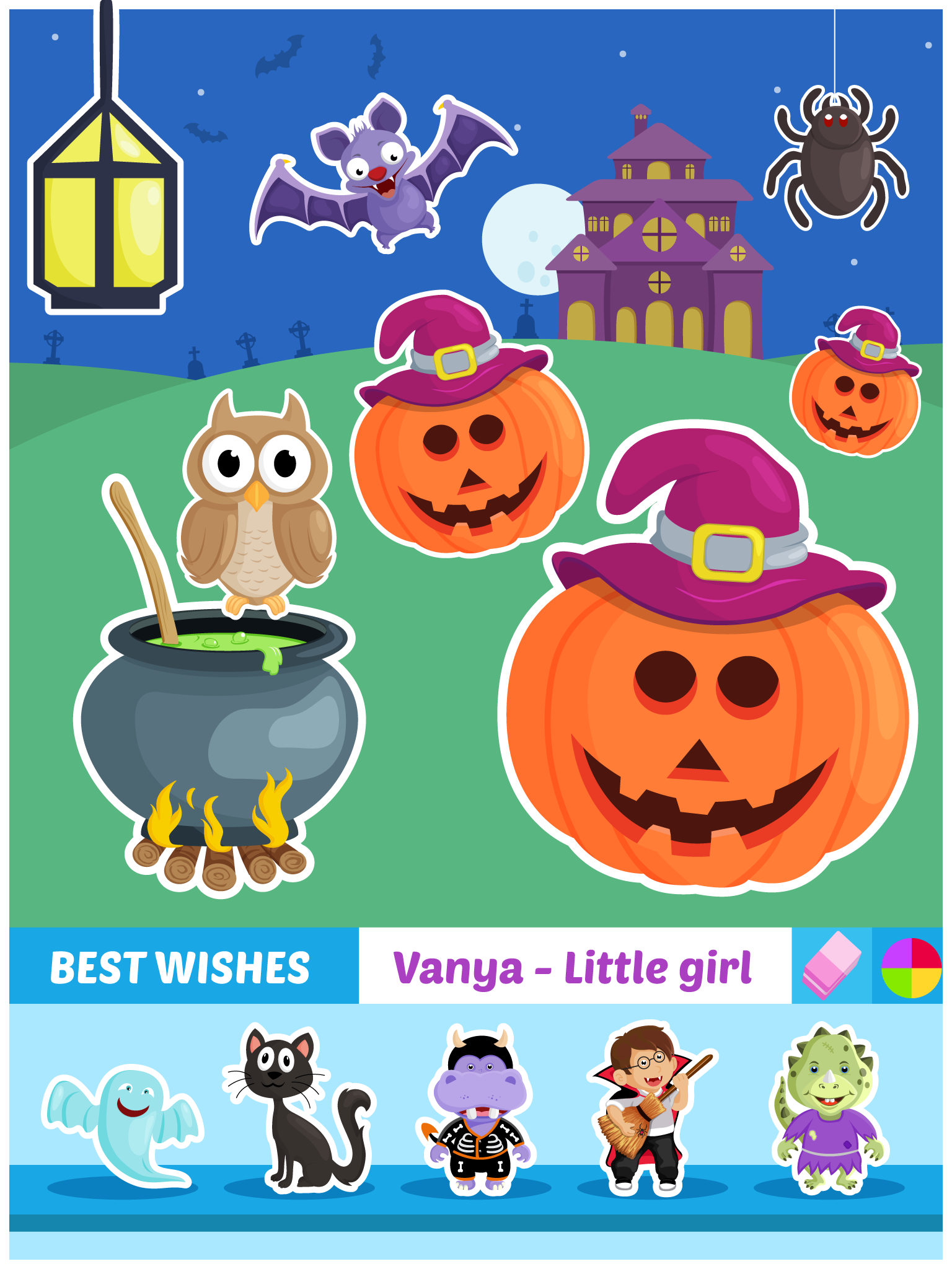Personal Greeting Cards Builder For Kids Create Unique Customized