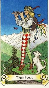 The Fool from the Robin Wood Tarot