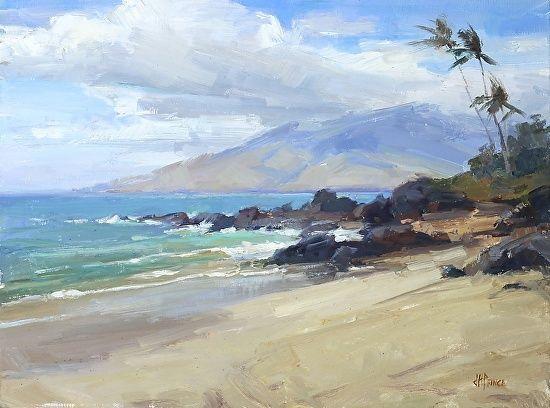 Hawaii Oil Paintings Maui Hawaii Painting Beach Scene Painting Landscape Paintings