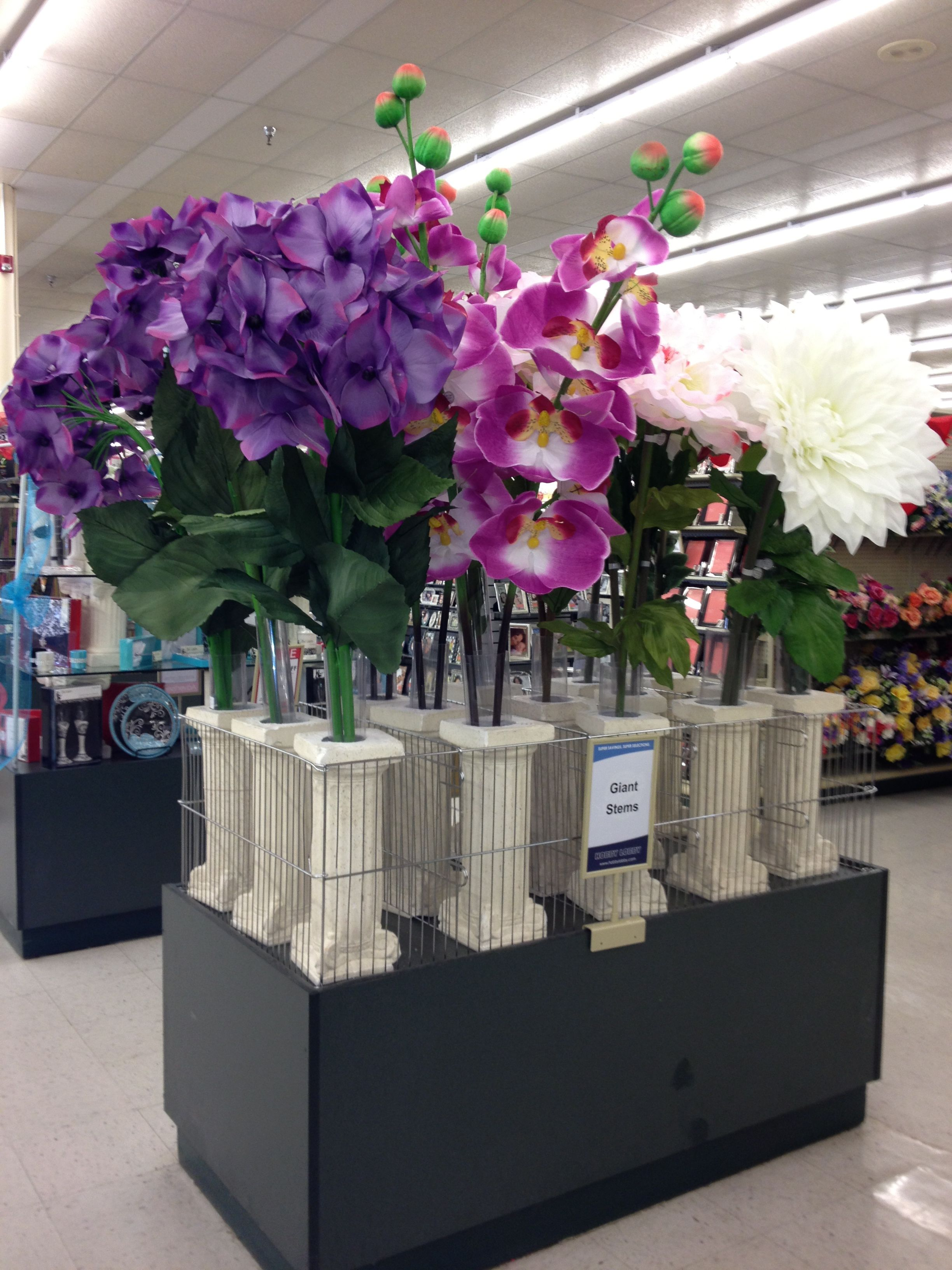 Giant Flowers at Hobby Lobby!! I love them all, but what
