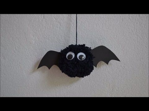 diy halloween deko f r kinder i fledermaus aus wolle basteln youtube halloweeny pinterest. Black Bedroom Furniture Sets. Home Design Ideas