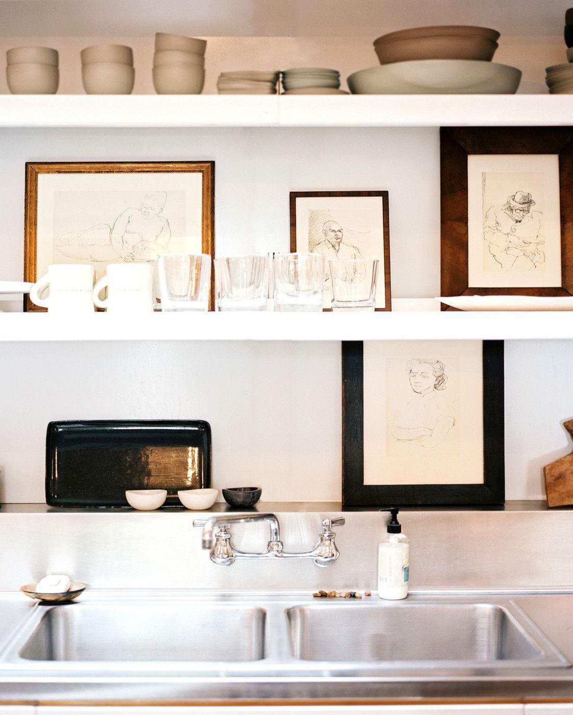 Küche ideen platz raum tipps für stilvolle lagerung dieser offenen küche regale in