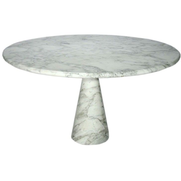 Round Marble Pedestal Dining Table By Angelo Mangiarotti At Stdibs