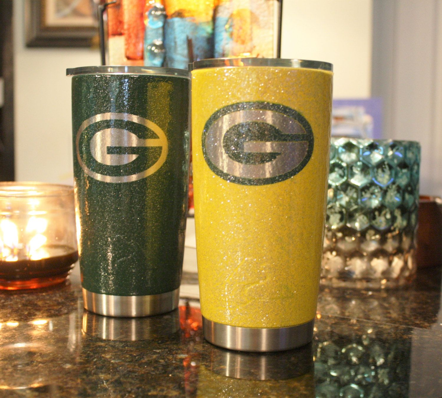 Ozark Trail Tumbler Green Bay Packers Ozark Trail Green Bay Packers Ozark Packers Ozark Trail Packers Ozark Green Bay Pack Packers Christmas Glitter Cups Ozark
