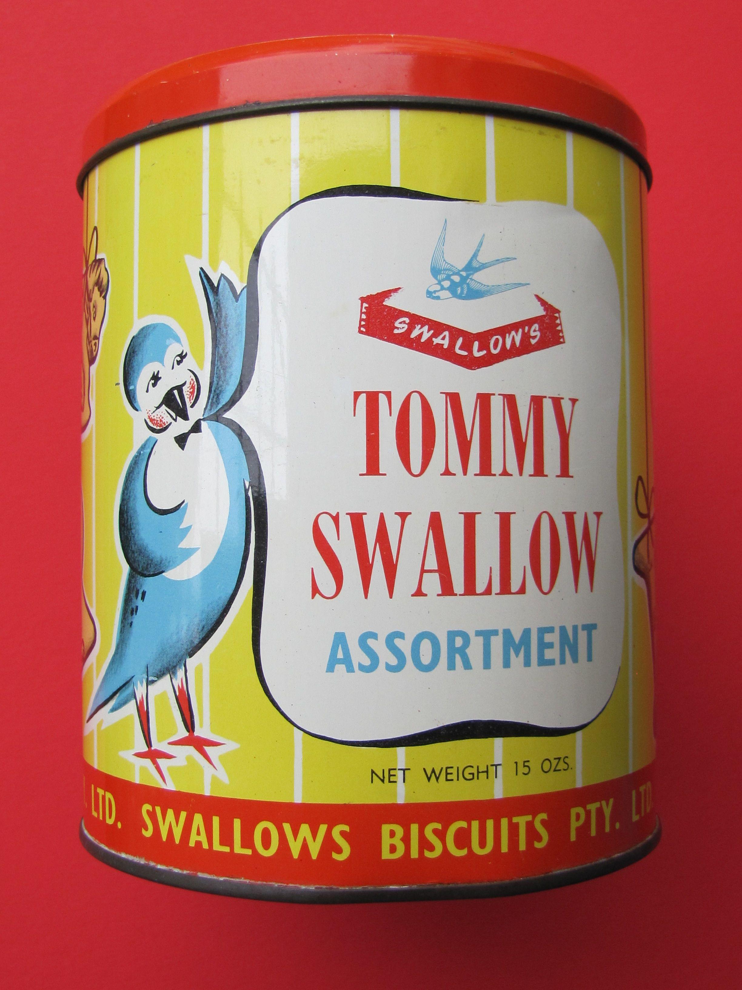 Tommy Swallow Assortment 1950s Australian Tin My
