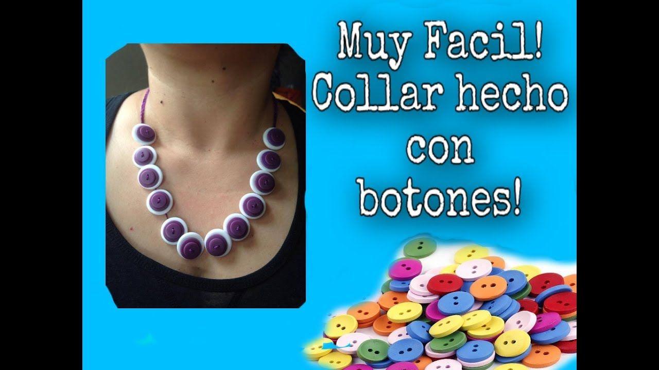 432e53fc8844 Collar Hecho con Botones Para Principiantes (English Subtitles) - YouTube