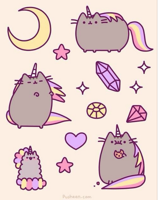 Ive Had A Curiosity About How Pusheen Would Look With The Infamous Inflatable Cat Unicorn Horn Is Seriously Fueling This