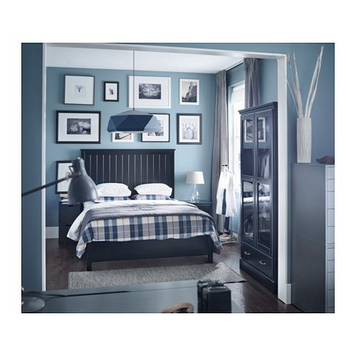undredal bed frame black lnset