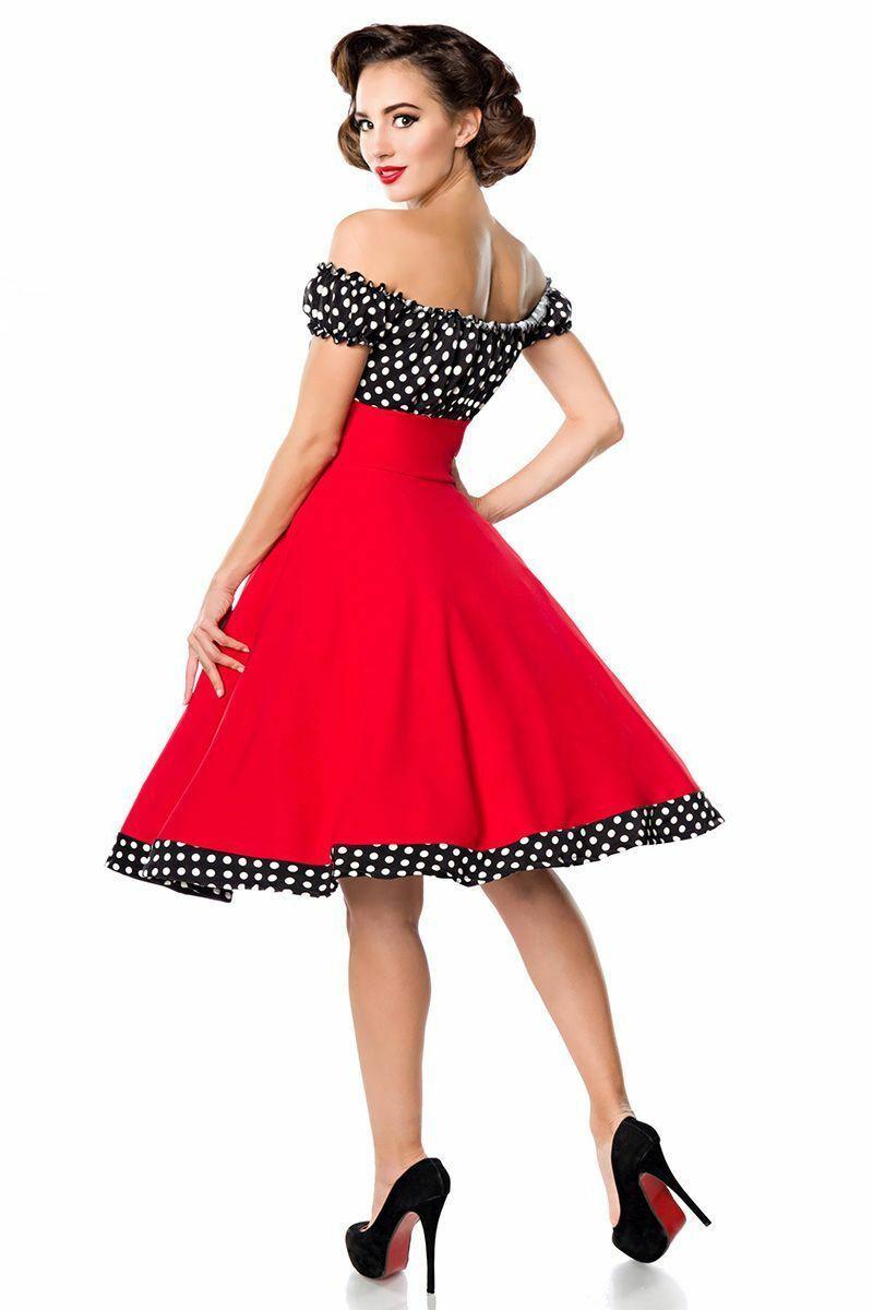 Details zu Belsira schulterfreies Swing-Kleid Kleid  Roupas