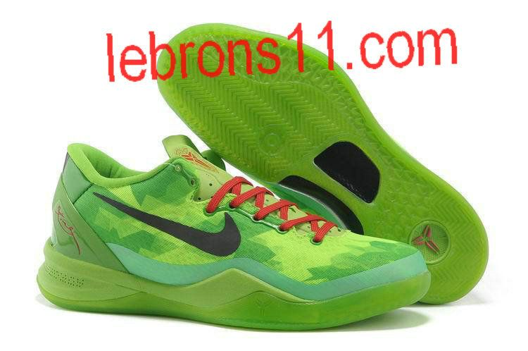 buy online 9d6df babd4 Kobe 8 Girls Grinch Christmas Basketball Shoes for Womens