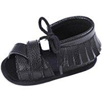 Webla Toddler Baby Girl PU Leather Tassel Sandals Soft Sole Lace-up Shoes Prewalker First Walking Shoes