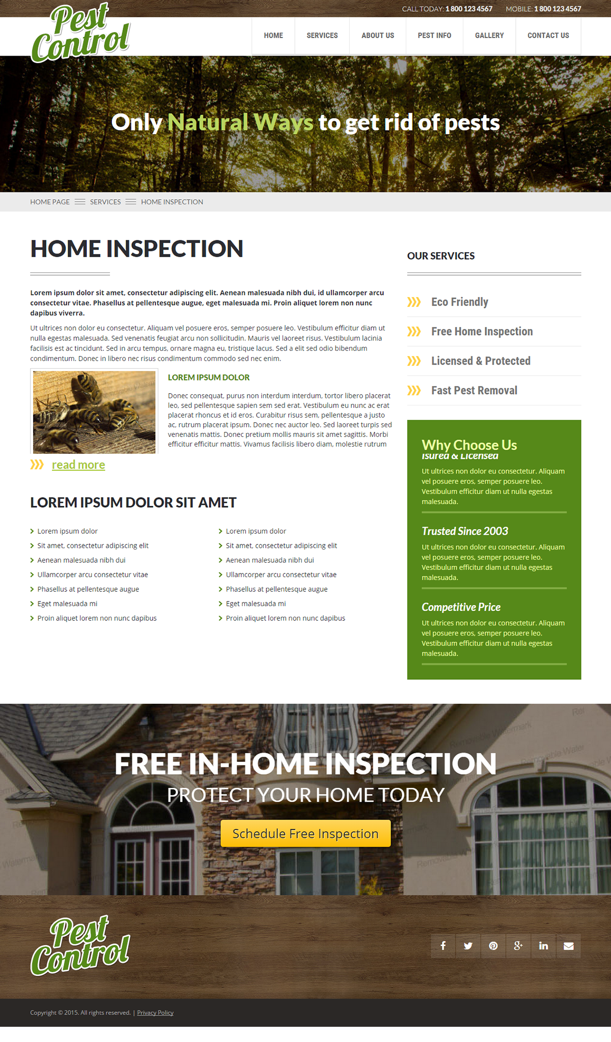 Parallax Website Template Pest Control One Page Parallax Html Template  Bootstrap Templates