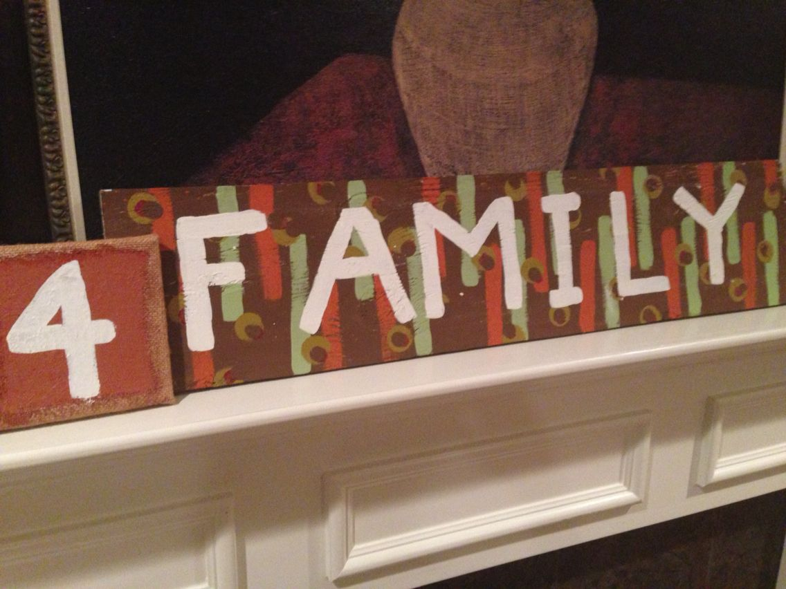 """Outdoor signage in the making """"Thankful 4 Family"""" will greet family members as they arrive to the shower."""