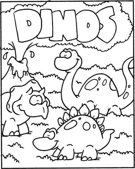 Dinosaur Coloring Pages For Children #dinosaurpics